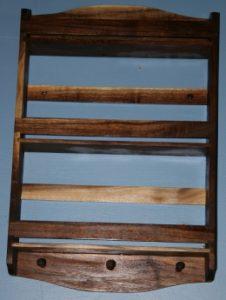 Walnut wood spice rack.