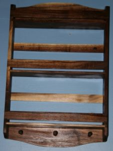 Walnut wood spice rack.