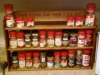 3 tier counter rack featuring Dave's Anti Rattle Off wood shelf edge.