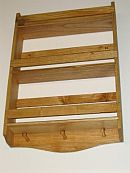 3 tier Pine wood spice rack handcrafted Plain Design.