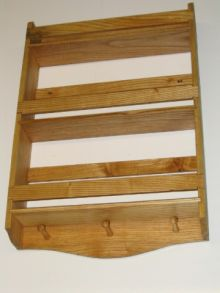3 tier wall hung Ash wood spice rack. Dave's plain spice rack design.