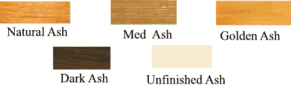 3 tier Ash counter top Ash wood stain finishes.
