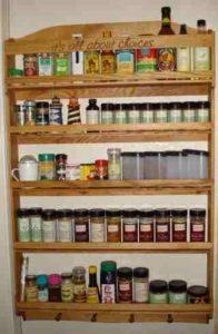 Personalized custom spice rack.