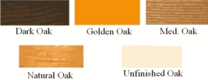 Oak Wood Finish selection.