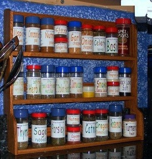 Contact Dave's Spice Racks for custom made counter top racks.