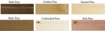 Pine wood counter top rack wood stain finishes.