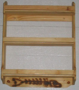 Order online 3 Tier Personalized Pine Wood Spice Rack; Classical Design. Dave's Spice Racks