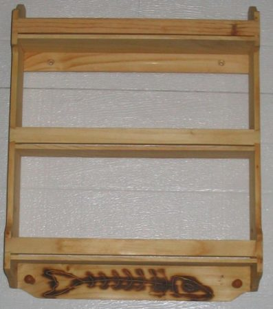 Personalized 3 tier Pine wood spice rack. Handcrafted in Dave's classsical design.