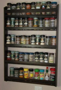 Order 5 Tier Wall Hanging Spice Racks online Dave's Spice Racks.