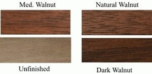 Walnut wood counter top spice rack wood stain finishes.